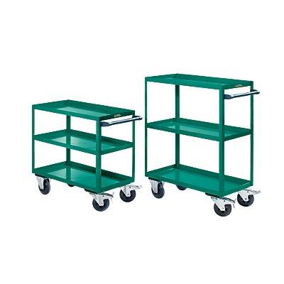 EUROKRAFT ACTIVE GREEN Chariot de montage - 3 tablettes, force 350 kg
