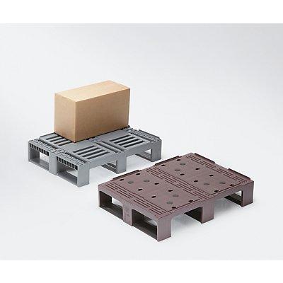 CRAEMER Kunststoff-Halbpalette - rot/schwarz
