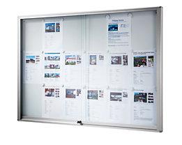 office akktiv Schaukasten - BxH 1540 x 970 mm - Kapazität 21 x DIN A4, schwer entflammbar