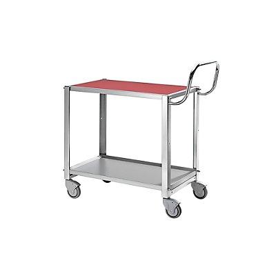 Kongamek Tischwagen, Tragfähigkeit 100 kg - LxBxH 765 x 450 x 740 mm - Vollgummibereifung