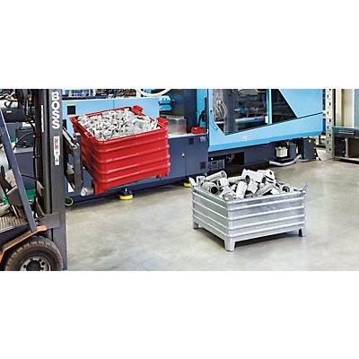 Heson Schwerlast-Stapelbehälter - BxL 800 x 1200 mm, mit Ecktaschen, ab 1 Stk
