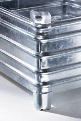 Heson Schwerlast-Stapelbehälter - BxL 800 x 1200 mm, mit Ecktaschen