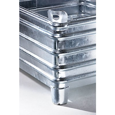 Heson Schwerlast-Stapelbehälter - BxL 1000 x 1200 mm, mit Ecktaschen