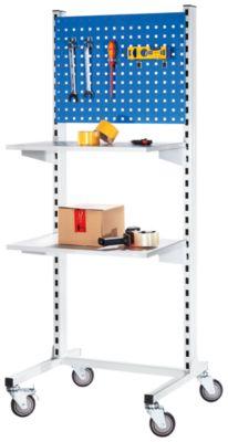 Mobiles Werkstattpult mit Ablageboden, Weißwandtafel - 1010 mm