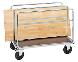 Platten-Transportwagen, Tragfähigkeit 500 kg - Gesamthöhe 875 mm, Ladehöhe 275 mm
