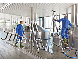 Stufen-Stehleiter - einseitig begehbar, geriffelt