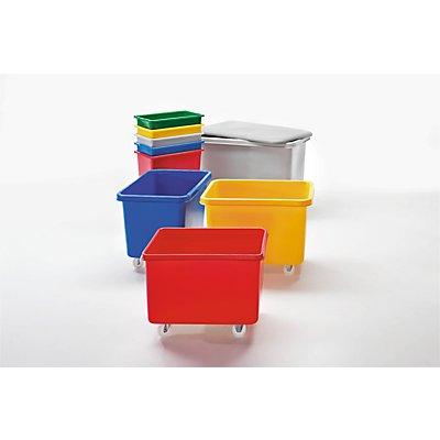 VECTURA Rechteckbehälter aus Polyethylen, fahrbar - Inhalt 227 l