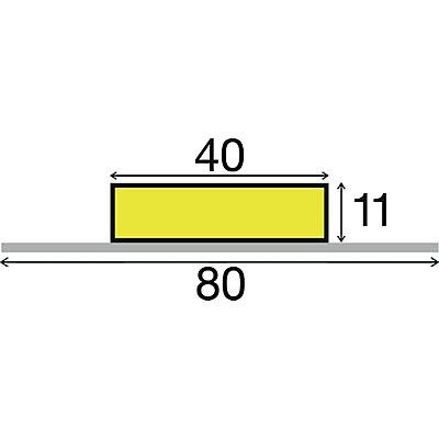Knuffi® Warn- und Schutzprofil - Länge 1000 mm, Querschnitt Rechteck klein, gelb / schwarz
