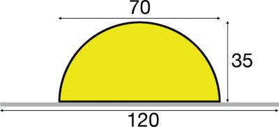 Knuffi® Warn- und Schutzprofil - Länge 1000 mm, Querschnitt Halbkreis