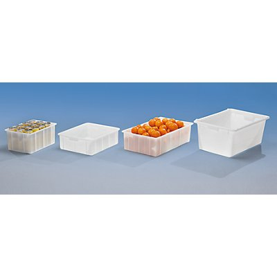 VECTURA Kunststoff-Stapelbehälter - Inhalt 31 l, Außenmaße LxBxH 550 x 450 x 163 mm