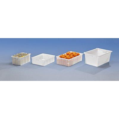 Kunststoff-Stapelbehälter - Inhalt 80 l, Außenmaße LxBxH 760 x 500 x 320 mm