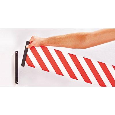 Tensator Gurtabsperrung - Kunststoffkassette rot, Gurtfarbe Rot / Weiß
