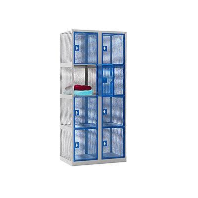 QUIPO Lochblechspind - Abteil 400 mm, 8 Fächer, für Vorhängeschloss