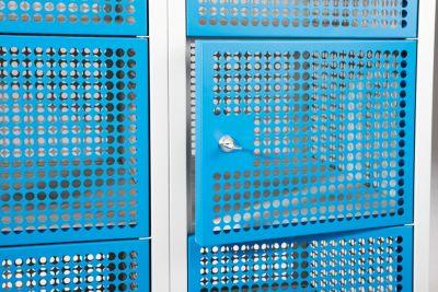 QUIPO Lochblechspind - Abteil 300 mm, 2 Fächer, für Vorhängeschloss