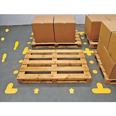 PVC-Bodenmarkierungen - Typ T, VE 50 Stk, LxB 200 x 300 mm