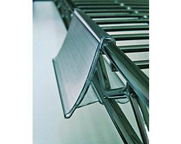 Etikettenhalter, Kunststoff - BxH 75 x 43 mm, VE 12 Stk