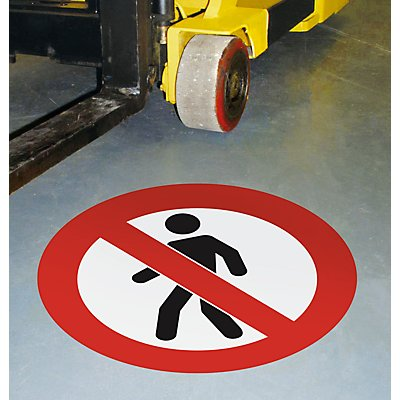PVC-Piktogramm - selbstklebend, VE 2 Stk, Fußgänger verboten
