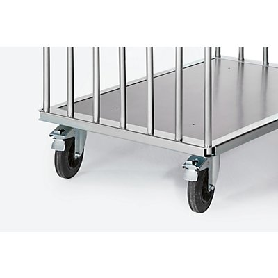 A&A Platten-Transportwagen, Tragfähigkeit 500 kg - Gesamthöhe 875 mm, Ladehöhe 275 mm
