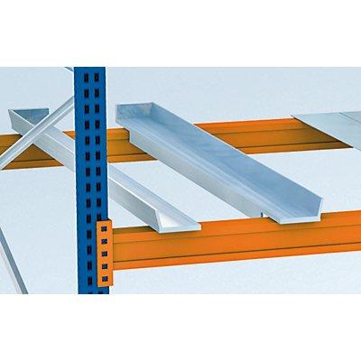 Schulte Container-Auflagen, verzinkt - für Stützrahmen-Tiefe 800 mm, 1 Paar, für Auflageträger-Breite 50 mm