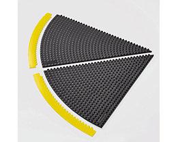 Rampe d'accès pour tapis à angle de 45° - rayon 910 mm - noir