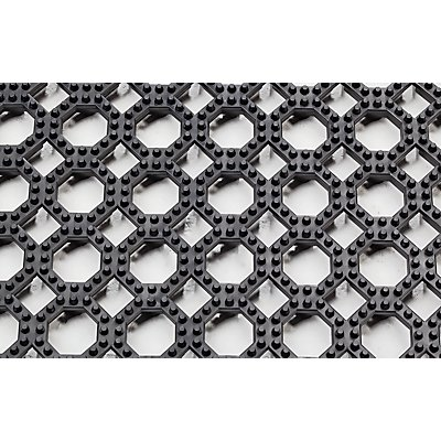 Système emboîtable en caillebotis - L x l 500 x 500 mm, lot de 4 - noir