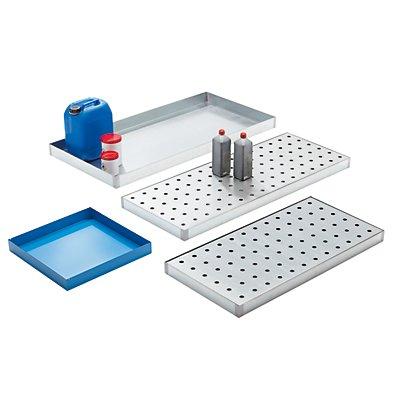 Stahl-Kleingebinde-Universalwanne - lichtblau, Länge 470 mm