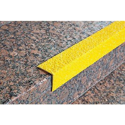 Marches d'escalier en profilé - jaune, lot de 2