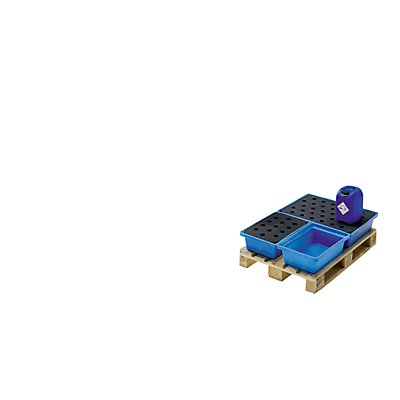 Romold Kleingebinde- und Palettenwanne - LxBxH 800 x 600 x 170 mm