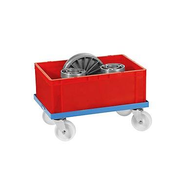 EUROKRAFT Universal-Fahrgestell - mit Polyamidrädern, Tragfähigkeit 250 kg - Ladefläche 610 x 410 mm