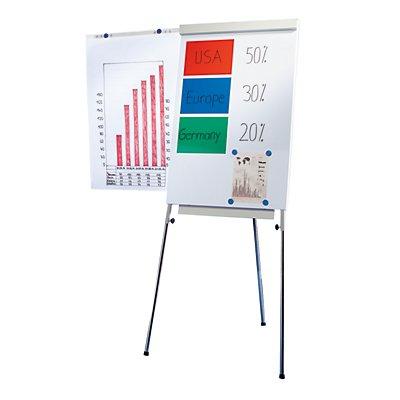 Smit Visual Flip-Chart - Standmodell mit Seitenarmen - magnethaftend, Teleskopbeine bis 1800 mm höhenverstellbar