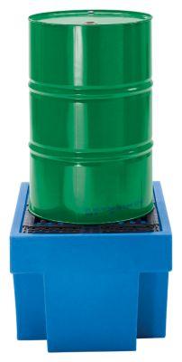 PE-Auffangwanne mit PE-Rost - 1 x 200-Liter-Fass - Volumen 225 l