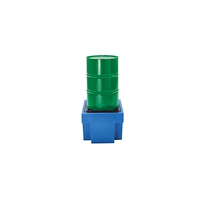 Cuve de rétention en PE avec caillebotis en PE - 1 fût de 200 litres - capacité 225 l