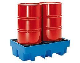 PE-Auffangwanne mit PE-Rost - 2 x 200-Liter-Fässer