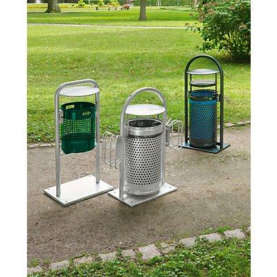 VAR Außen-Abfallsammler - Inhalt 30 l, mit Rohrgestell