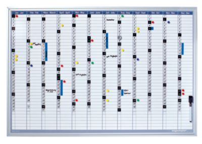 magnetoplan® Jahresplaner-Set - inkl. Montagematerial - BxH 920 x 625 mm