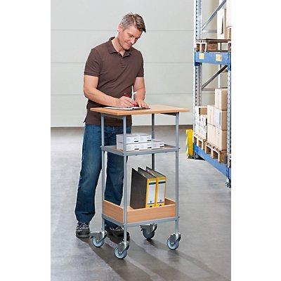 Tischwagen - Tragfähigkeit 100 kg - Arbeitsfläche 600 x 450 mm