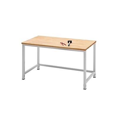 RAU Werktisch, höhenverstellbar - Melamin-Platte
