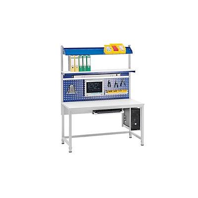 RAU Werktisch, höhenverstellbar - Buche-Platte