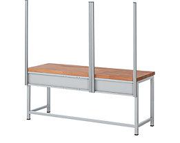RAU System-Stützensatz - 4 System-Stützen, für Werktisch-Breite 2000 mm