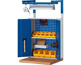RAU System-Stützensatz - 2 System-Stützen, für Werktisch-Breite 2000 mm