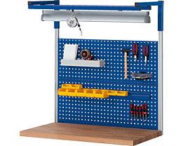 RAU System-Stützensatz - 2 System-Stützen, für Werktisch-Breite 1250 mm