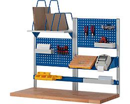 RAU System-Stützensatz - 4 System-Stützen, für Werktisch-Breite 1500 mm