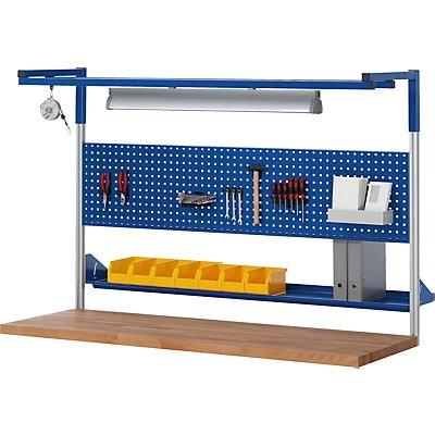 RAU Arbeitsplatz, höhenverstellbar - Melaminplatte, Tragkraft 150 kg