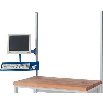 RAU TFT-Schwenkarm - mit Tablar, Tragkraft 15 kg