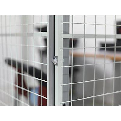 Axelent Eckverbinder für X-STORE-Trennwandsystem - 90° / Tür - VE 3 Stk