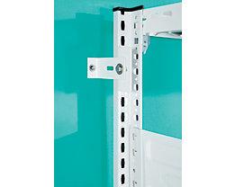 hofe Wandbefestigung mit Schrauben und Dübeln - für Steckregal, antibakteriell - VE 2 Stk