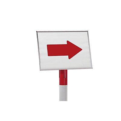 VISO Schilderhalter für Absperrpfosten - zum Aufstecken