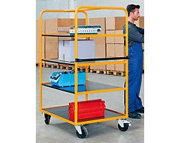 QUIPO Regal- und Etagenwagen - 3 Etagenböden + zusätzliche Bodenladefläche