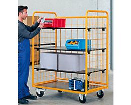 QUIPO Chariot à tablettes, force 350 kg - avec 3 tablettes