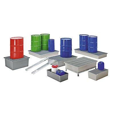 CEMO Boden-Auffangwanne - 2 x 200-Liter-Fässer, ohne Zulassung
